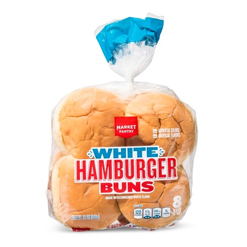White Hamburger Buns - 8ct/12oz - Market Pantry™ - image 1 of 1
