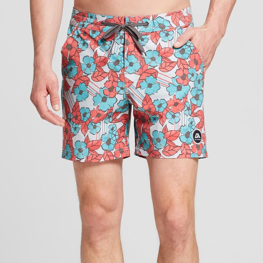 Men's 6 Pacific Beach Board Shorts - Allyance Red 40