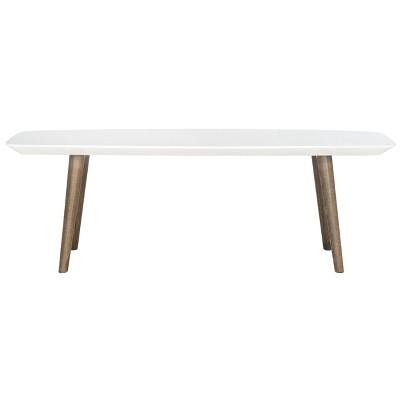 Josiah Coffee Table White/Brown - Safavieh