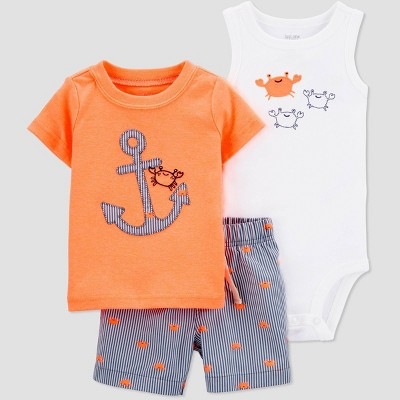 Baby Boys' Anchor Top & Bottom Set - Just One You® made by carter's Orange 12M