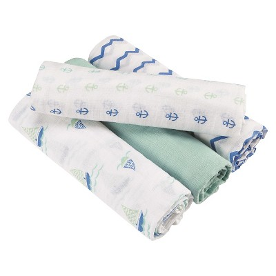 Aden® by Aden + Anais® Swaddle 4pk - Sailing Sea