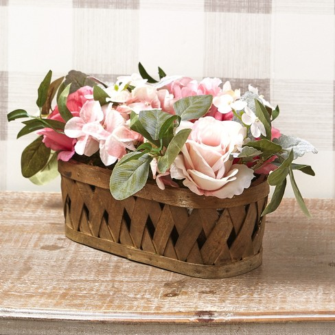 Lakeside Vintage Style Faux Cottage Roses Arrangement Shabby Chic Home Decor Target