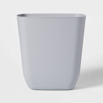 3gal Plastic No Lid Trash Can Gray - Room Essentials™