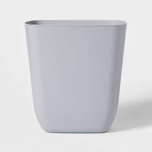 3gal Plastic No Lid Trash Can Gray - Room Essentials™ - image 1 of 1