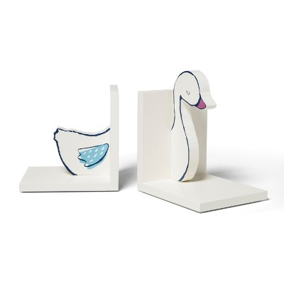 Decorative Bookend Swan - Cloud Island™ White