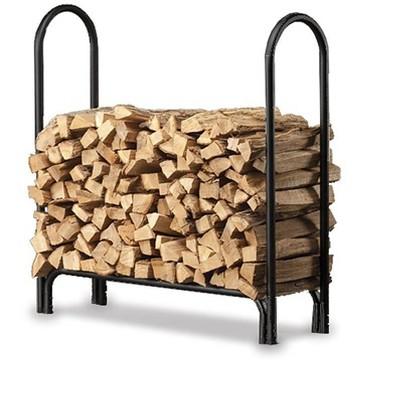 "Plow & Hearth - Medium Heavy-Duty Steel Firewood Log Rack, 45"" L x 13"" W x 45"" H"