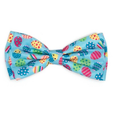 The Worthy Dog Easter Eggs Bow Tie Adjustable Collar Attachment Accessory