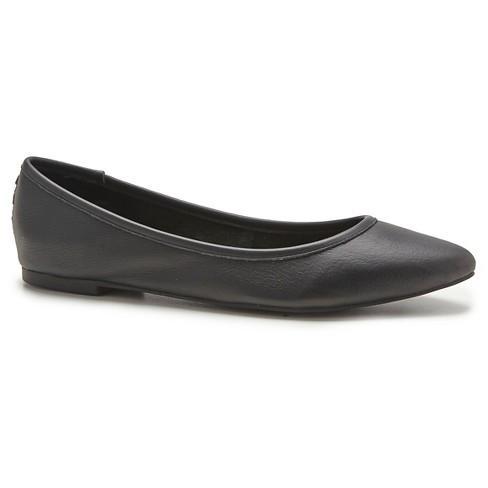 Women S Post Paris Brielle Leather Almond Toe Ballet Flats