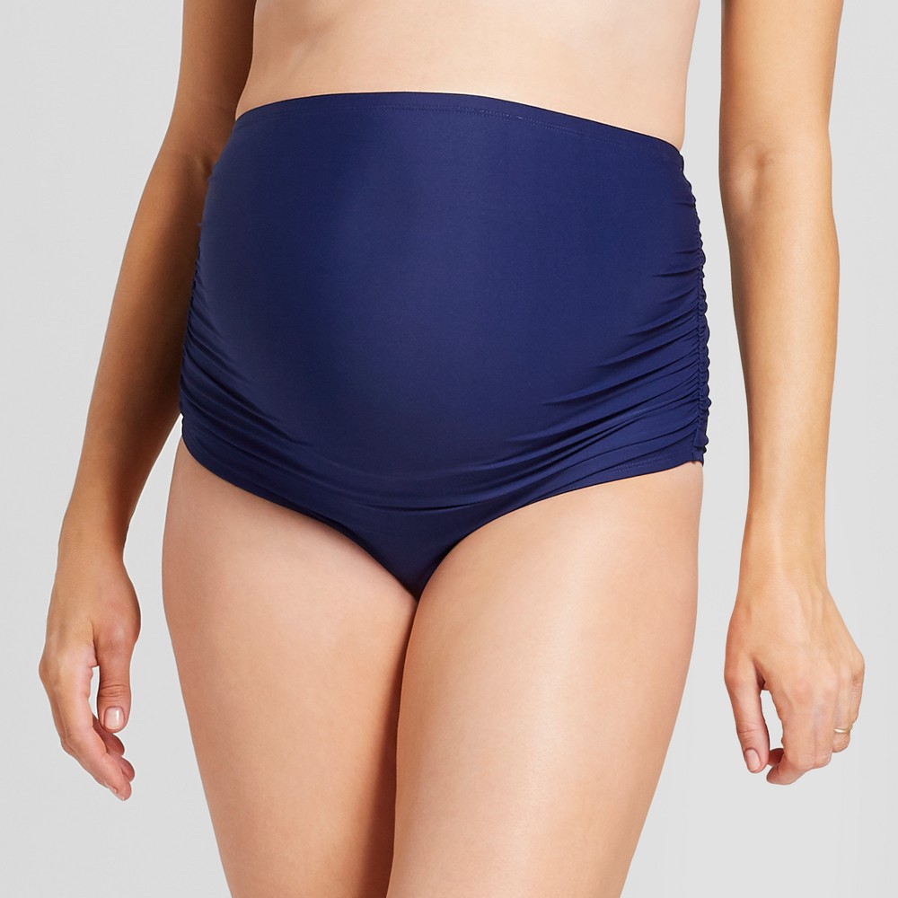 Maternity High Waisted Side Ruched Brief - Sea Angel - Navy (Blue) XL, Women's