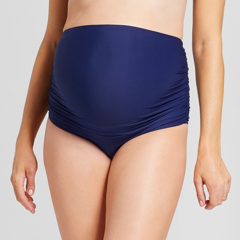 36fe12f2c7c1db Maternity High Waisted Side Ruched Brief - Sea Angel - Navy M : Target
