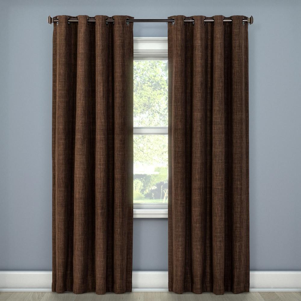 Rowland Light Blocking Curtain Panel Chocolate (Brown) (52