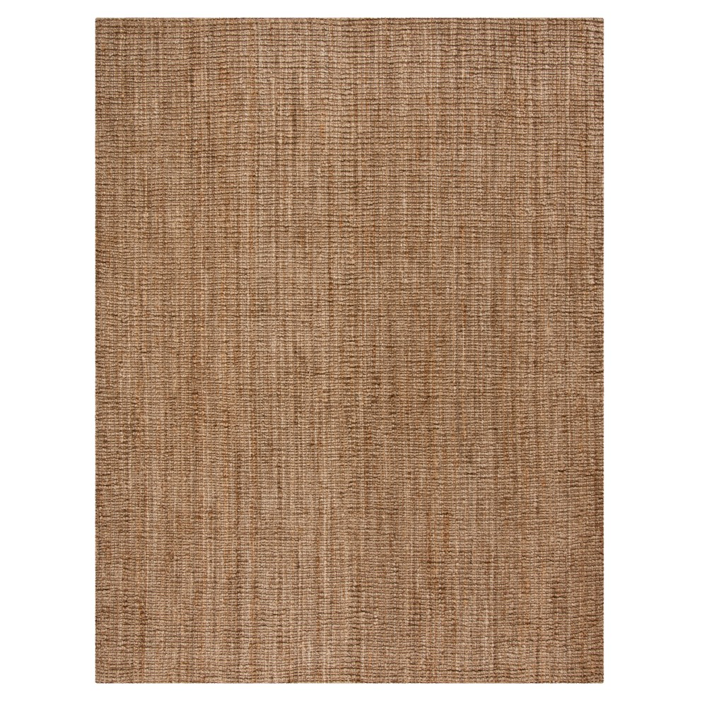 Natural/Gray Solid Woven Area Rug 9'X12' - Safavieh