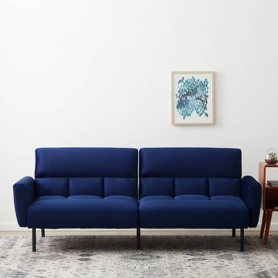 Comfort Collection Futon Sofa Bed with Box Tufting - Lucid