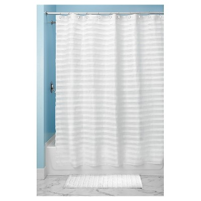 Tuxedo Shower Curtain White - InterDesign