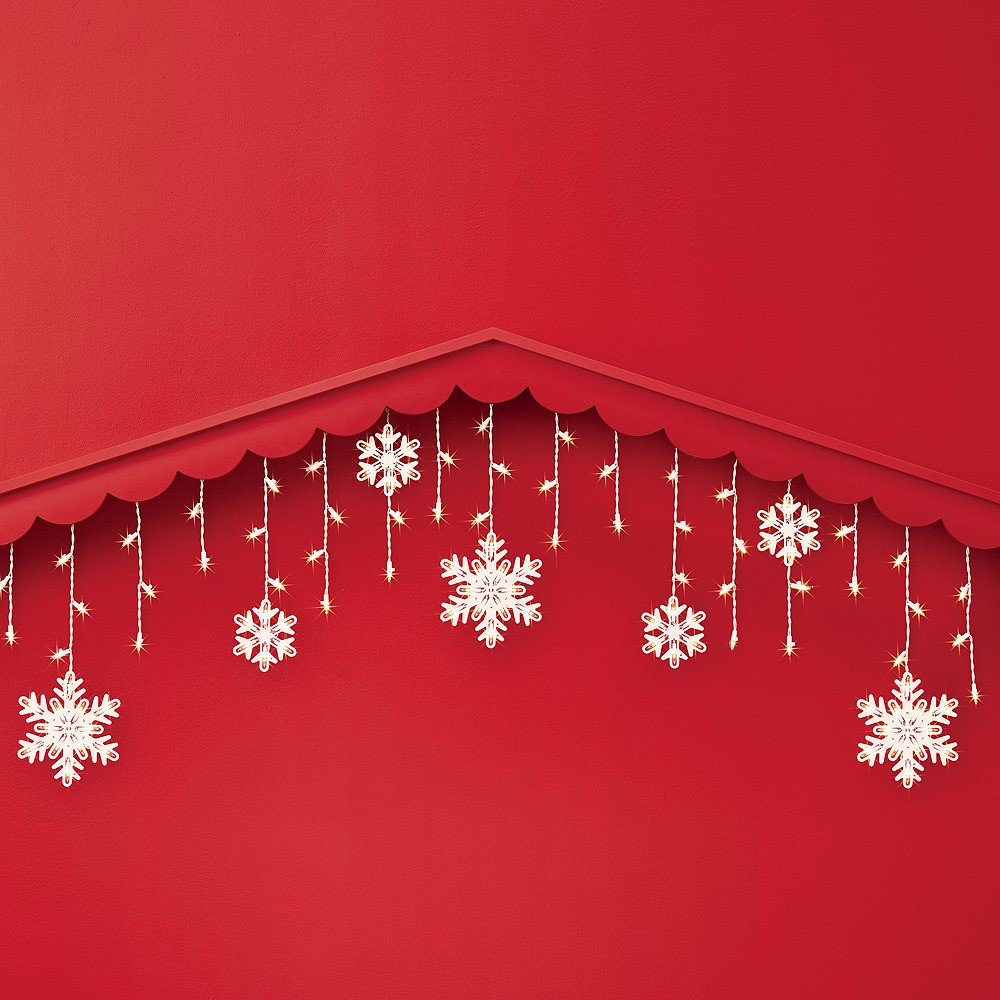 150ct Christmas Incandescent Snowflake Icicle String Lights Clear - Wondershop