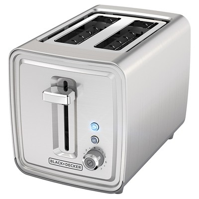 BLACK+DECKER 2 Slice Toaster - Stainless Steel