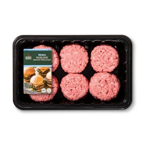 Mini Ground Beef Slider Patties - 24oz - Archer Farms™