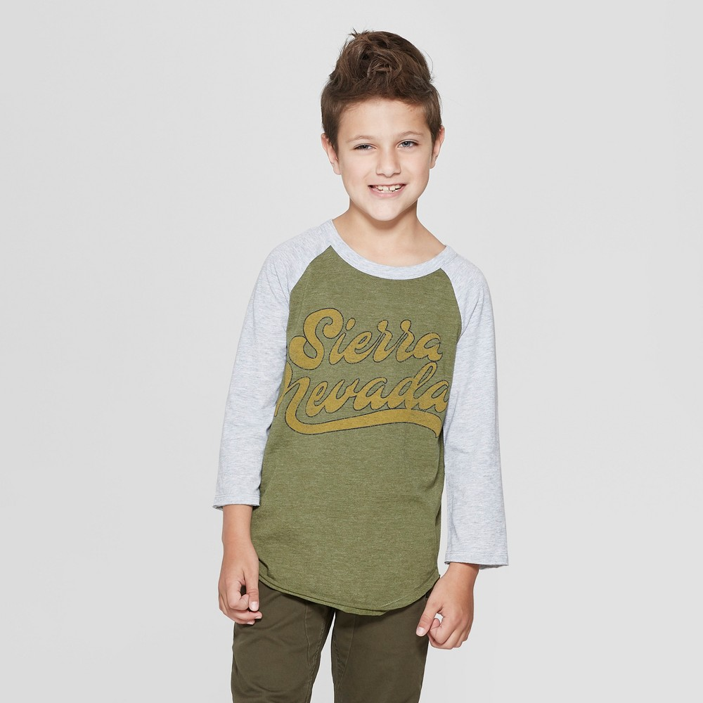 Boys' Raglan Sleeve T-Shirt - art class Green L