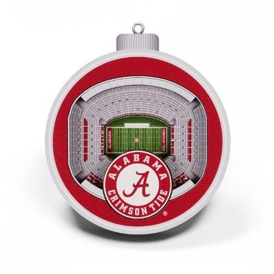 NCAA Alabama Crimson Tide 3D Stadium View Ornament