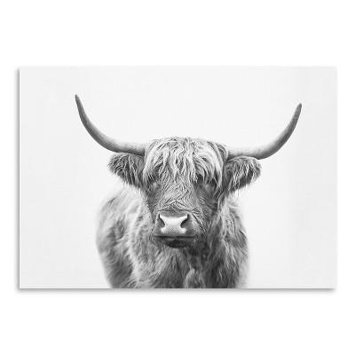 Americanflat Highland Bull by Sisi and Seb Poster Art Print