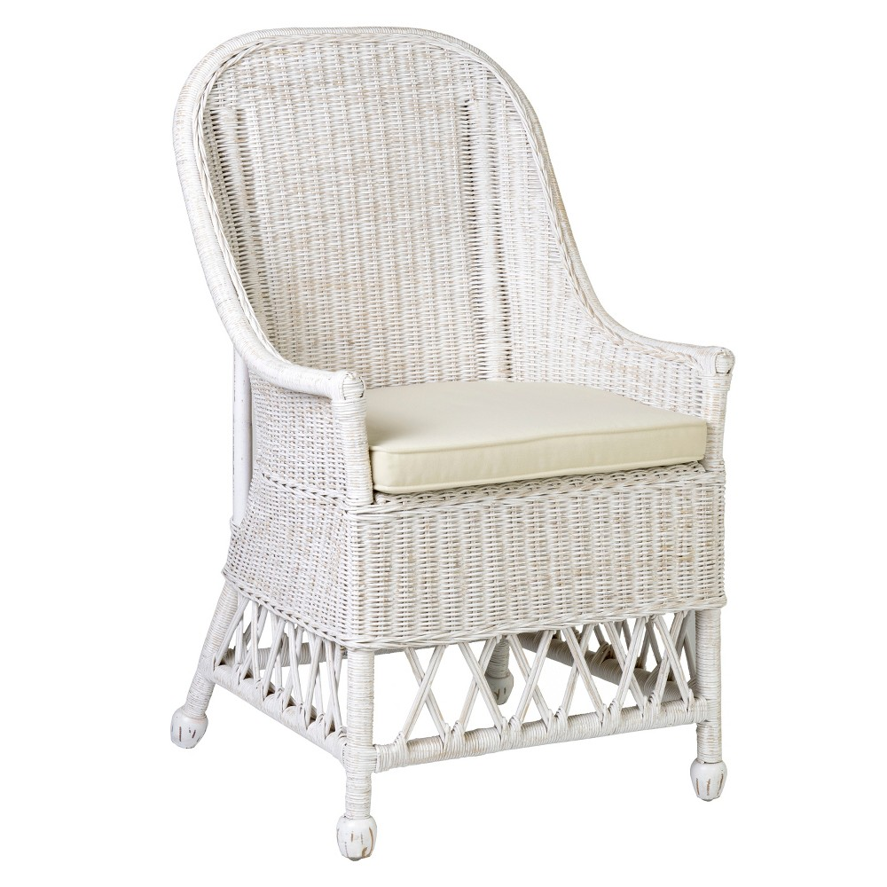 Remarkable Marietta Rattan Accent Chair White East At Main Pabps2019 Chair Design Images Pabps2019Com