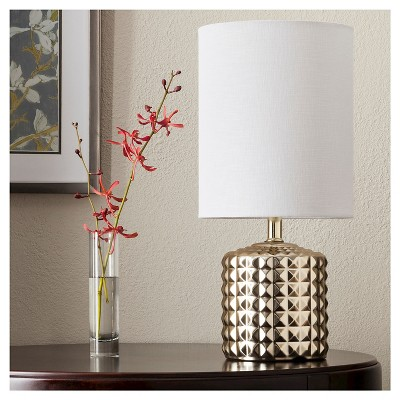 433883ccd09 Gold Plated Geometric Ceramic Table Lamp – Threshold™ – Target ...