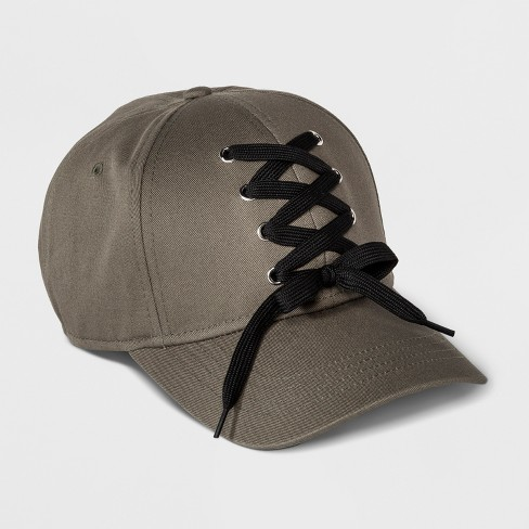 Girls' Lace-Up Baseball Hat - art class™ Green One Size - image 1 of 2