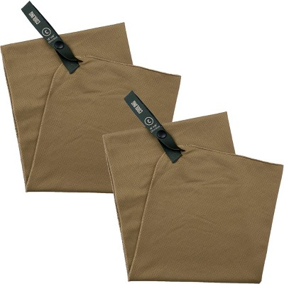 "Gear Aid McNett Tactical 15"" x 36"" Cooling Towel 2-Pack - Coyote"
