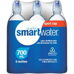 smartwater with Sports Cap - 6pk/700 ml Bottles