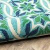 Marlowe Floral Lattice Patio Rug Blue/Green - image 3 of 3