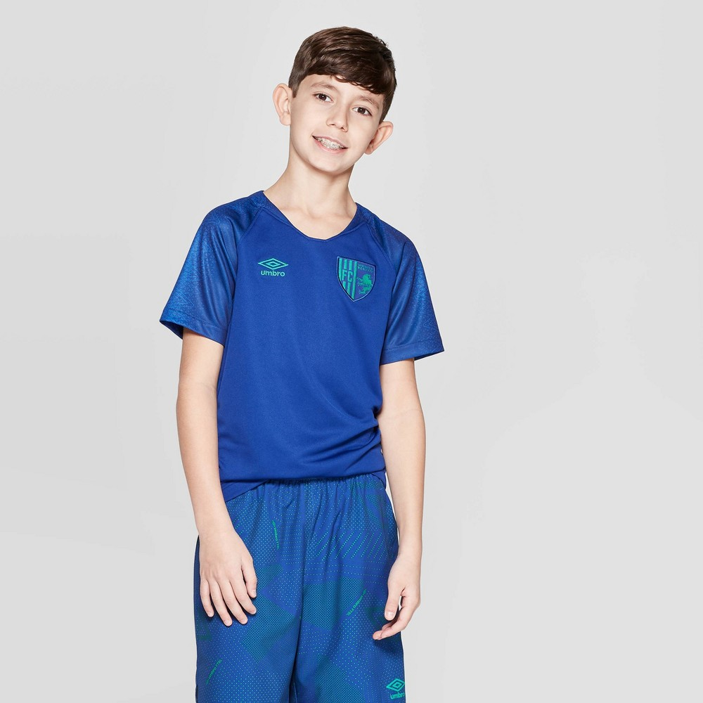 Image of Umbro Boys' Soccer Jersey - Blue L, Boy's, Size: Large