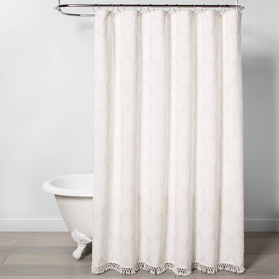 Textured Shower Curtain Off White - Opalhouse™