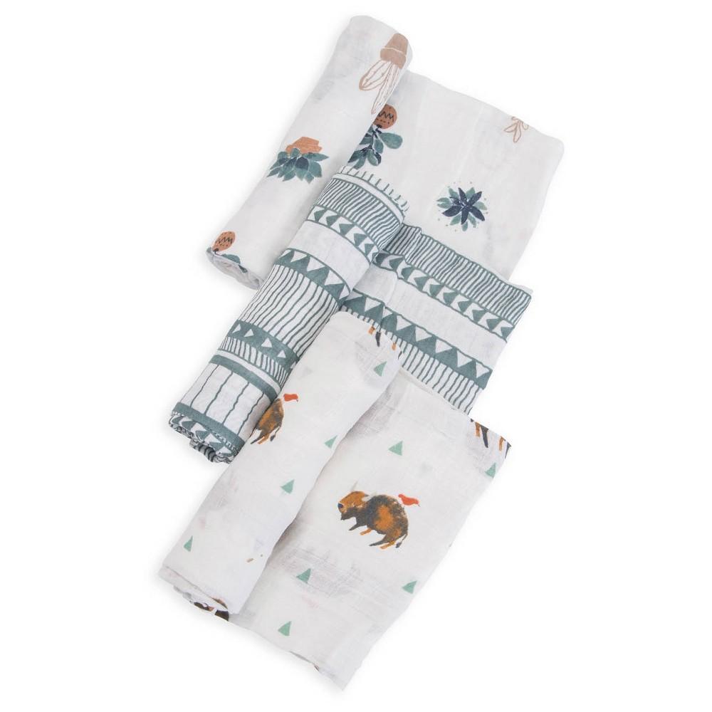 Little Unicorn Cotton Muslin Swaddle Blankets Bison