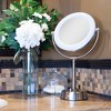 Zadro Fluorescent Lighted Mirror, Adjustable, Infinity Dimmer, 10X / 1X Power - Satin Nickel - image 4 of 4