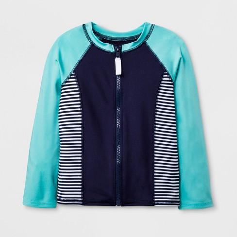 b87dde5b6bc8 Toddler Boys' Long Sleeve Zip-Up Rash Guard - Cat & Jack™ Blue : Target