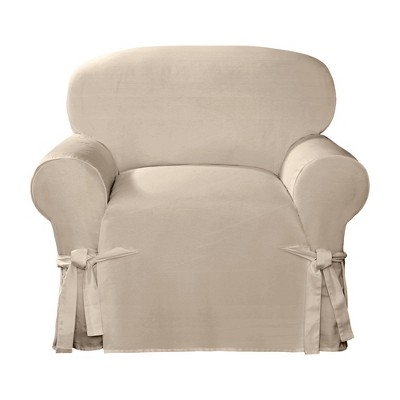 Cotton Canvas Relaxed Fit Slipcover Chair - Sure Fit