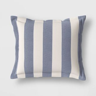Cabana Stripe Outdoor Deep Seat Pillow Back Cushion DuraSeason Fabric™ Navy - Threshold™