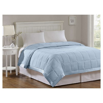 Bed Blanket Prospect All Season Hypoallergenic Microfiber Down Alternative with 3M® Scotchgard Finish (Full/Queen)Blue