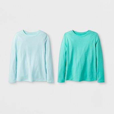Girls' 2pk Solid Long Sleeve T-Shirt - Cat & Jack™