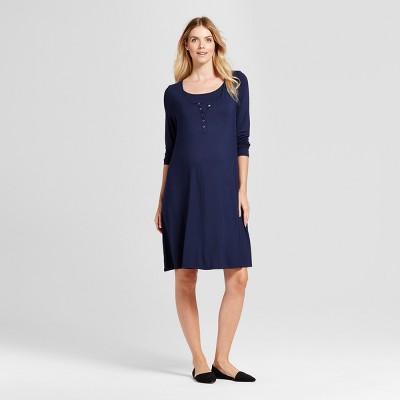 Maternity Nursing Nightgown - Isabel Maternity by Ingrid & Isabel™ Navy XXL