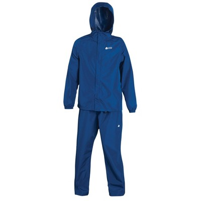 Sierra Designs Adult Packable Rain Set Blue - XL/XXL