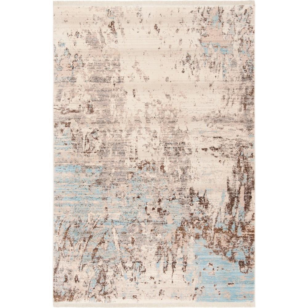 5'X7'6 Marble Loomed Area Rug Gray/Blue - Safavieh