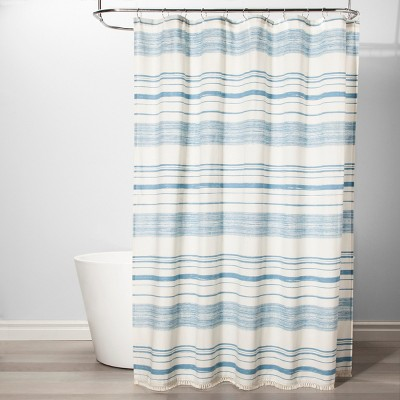 Variegated Stripe Shower Curtain Blue - Threshold™