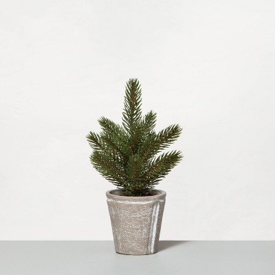 """10"""" Faux Mini Pine Tree with Planter - Hearth & Hand™ with Magnolia"""