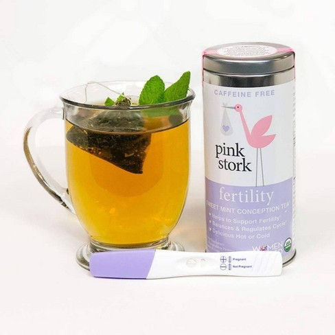 Pink Stork Sweet Mint Caffeine Free Sweet Mint Fertility Conception Tea -  15ct