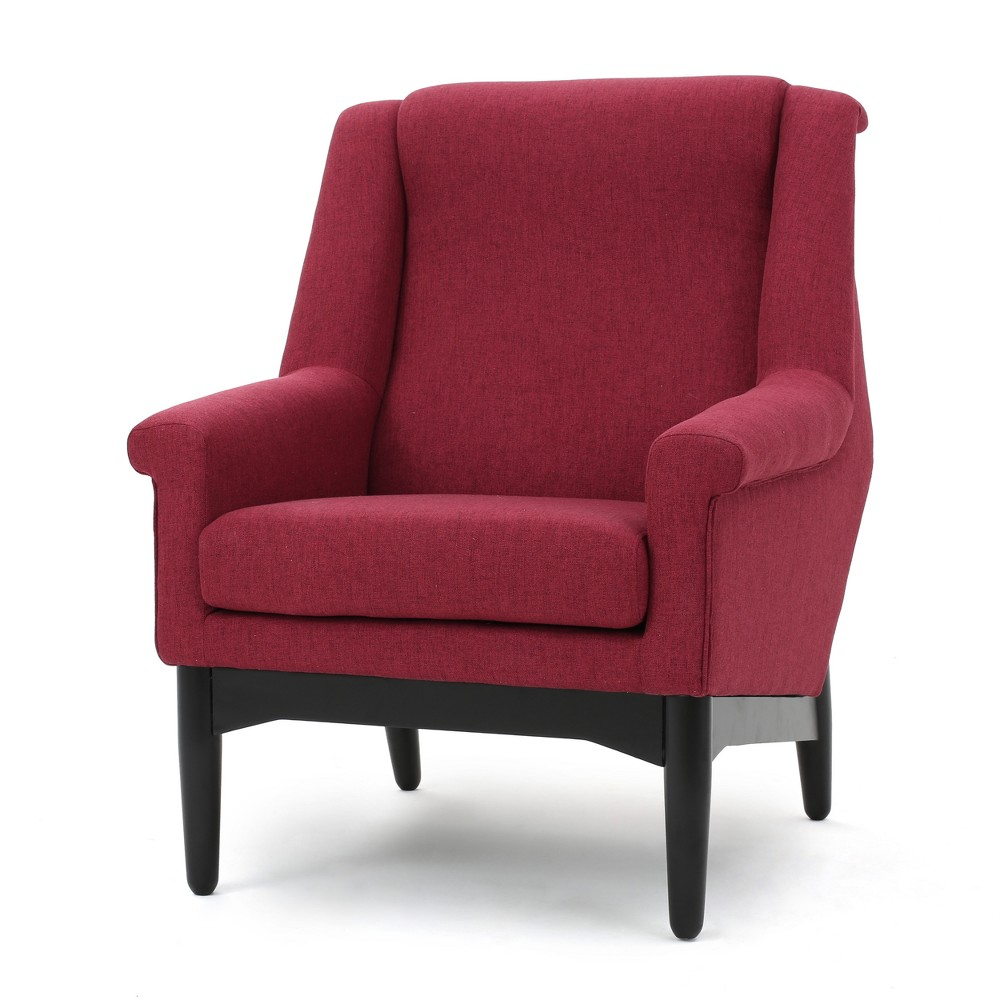 Monet Mid-Century Club Chair - Red - Christopher Knight Home, Deep Red
