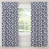 Unlined Silhouette Floral Light Filtering Curtain Panel Navy/Blush - Cloth & Co. - image 3 of 5