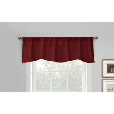 "Commonwealth Home Fashions Thermalogic Prescott Top Scalloped Tailored Valance With 3"" Rod Pocket - 60x18"""