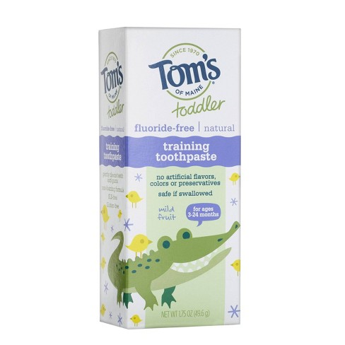 Tom's of Maine Fluoride-Free Toddler Training Toothpaste Mild Mint - 1.75oz - image 1 of 4