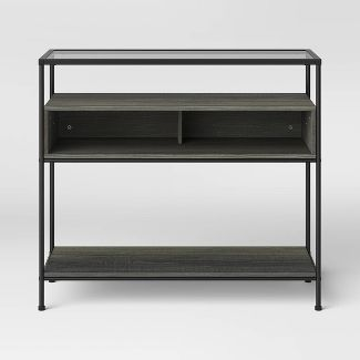 Fulham Glass Top Console Table with Wood Shelves - Project 62™